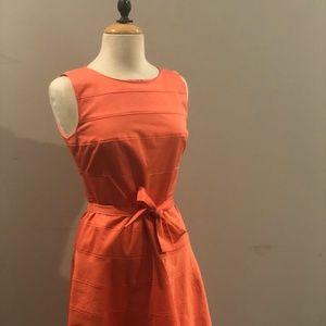 Calvin Klein Pink Orange Fit and Flare Dress